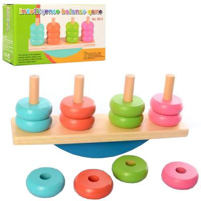 Деревянная игрушка Пирамидка Баланс (MD 2277)