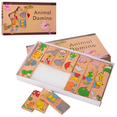 Деревянная игрушка Домино Животные (MD 2146)