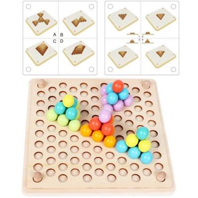 Деревянная игрушка мозаика Bead holder (MD 2210)