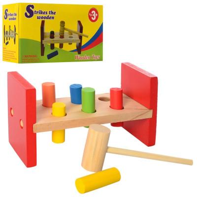 Деревянная игра с молоточком - стучалка MD 2339