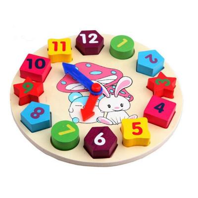 Деревянная игрушка Часы Сортер (md 0719)