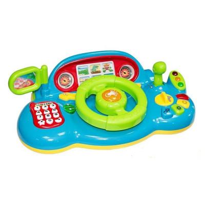 """Детский автотренажер """"Я тоже рулю"""" Play Smart синий, звуковые и световые эффекты (7318)"""