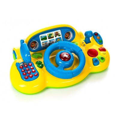 """Детский автотренажер """"Я тоже рулю"""" Play Smart желтый, звуковые и световые эффекты (7318)"""