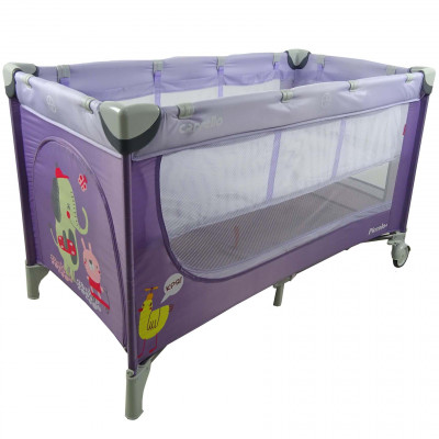 Детский манеж CARRELLO Piccolo+ CRL-9201 Purple со вторым дном