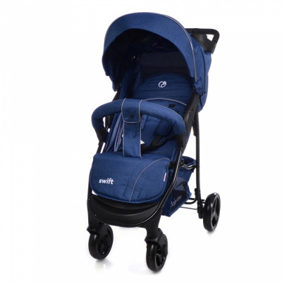 Детская коляска прогулочная BABYCARE Swift BC-11201 Blue Лен