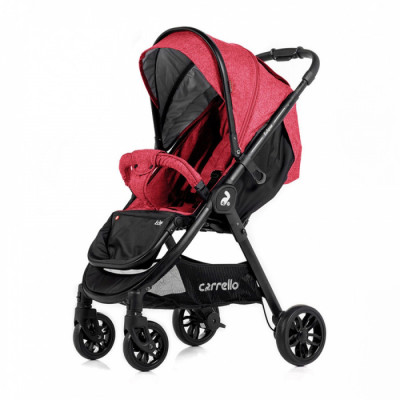 Детская коляска прогулочная CARRELLO Eclipse CRL-12001 Rose Red Лен