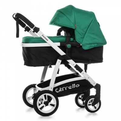 Детская универсальная коляска 2в1 CARRELLO Fortuna CRL-9001 Basil Green с матрасом