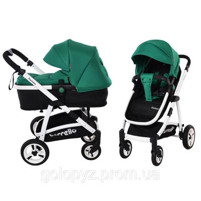 Детская универсальная коляска 2в1 CARRELLO Fortuna CRL-9001 Green