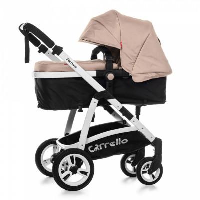 Детская универсальная коляска 2в1 CARRELLO Fortuna CRL-9001 Oxford Beige с матрасом