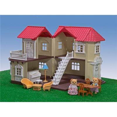 Загородный домик Happy Family с мебелью, аналог Sylvanian Families (012-01)