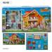 Загородный домик для кукол Happy family с мебелью и животными (012-03)