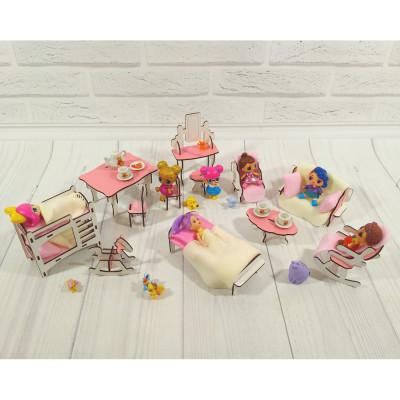Комплект игровой мебели для маленьких кукол 12 единиц (1102)