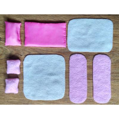 Набор текстиля для маленькой мебели 8 предметов (1103)