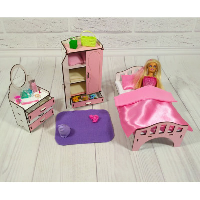 """Комплект игровой мебели """"Спальня"""" для кукол (3111)"""