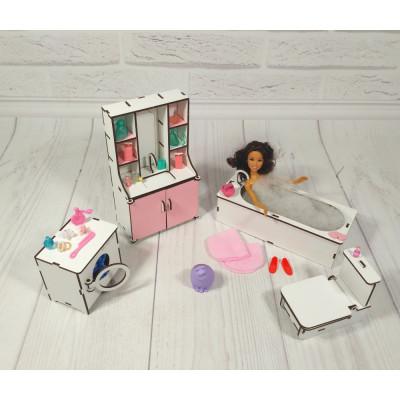 """Комплект игровой мебели """"Ванная"""" для кукол (3112)"""