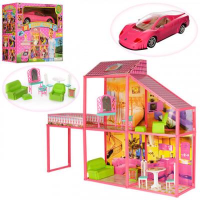 Домик для кукол барби My Lovely Villa 6981 (с машиной)