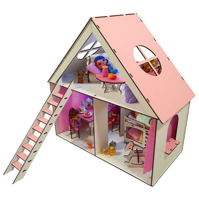 Кукольный домик для Lol Fana Little Fun + мебель в подарок