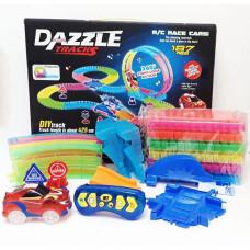 Гибкий светящийся Автотрек Dazzle Tracks на радиоуправлении (187 деталей)