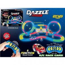 Гибкий светящийся Автотрек Dazzle Tracks на радиоуправлении (216 деталей)