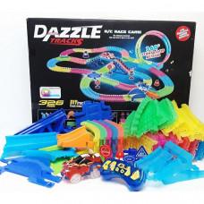 Гибкий светящийся Автотрек Dazzle Tracks на радиоуправлении (331 деталь)