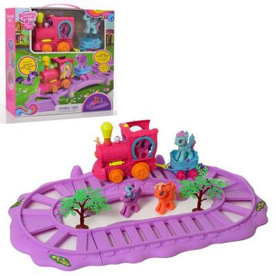 Игровой набор Железная дорога My Little Pony звук, свет (88360)