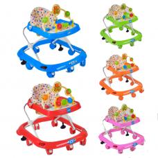 Детские ходунки JOY 258-1, 5 цветов, проигрывает 4 мелодии на русском языке, d колес - 6.5см
