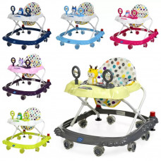 Детские ходунки Bambi M 3168, музыкальные зверушки на прорезиненных колесах, 6 видов