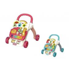 Дитячі музичні ходунки на колесах 698-60-61, ігровий центр, тріскачка, піаніно, світло, рожева і блакитна