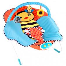 """Шезлонг-качалка детская """"Пчела"""", подушка, одеяло, 10 мелодий, вибрация, 70016"""