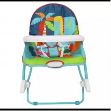 Детский шезлонг 8166, звук, вибро, стульчик, съёмная столешница, до 18 кг