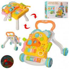 Детская каталка-ходунки с игровой панелью 2в1