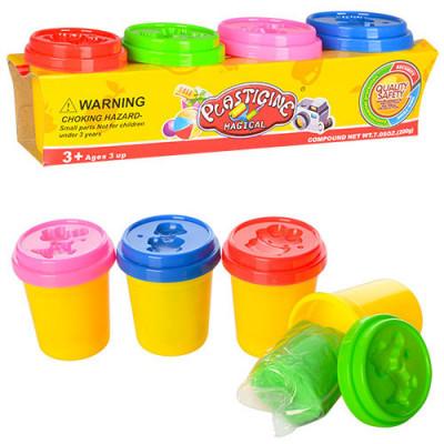 Набор пластилина для лепки Plasticine 4 цвета (1112)