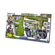 Ігровий набір військовий 34280 Автомат, пістолет, звук, жилет, маска