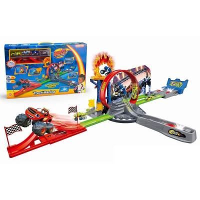 Игровой набор Гоночный Авто-трек с петлей и 4 машинки Вспыш и Чудо-машинки (828-55)