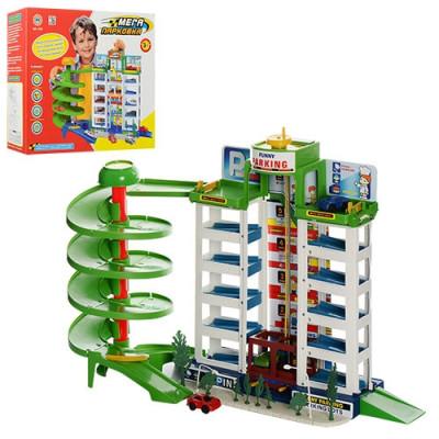 """Детский игровой гараж """"Мега парковка"""" 6 уровней парковки, 4 машинки (922)"""