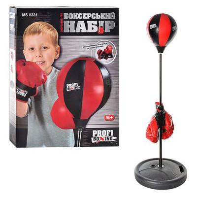 Детский боксерский набор Profi Boxing на стойке, груша, перчатки (MS 0331)