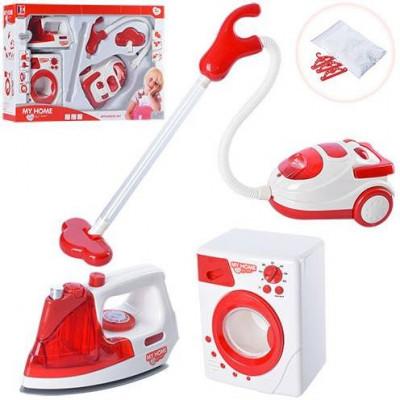 Детский набор бытовой техники 3203 (пылесос, утюг, стиральная машина)