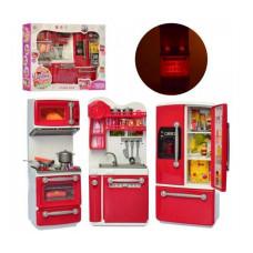 Ігрова кухня для ляльок 29 см Defa: світло, звук, на батарейках, мікр.печь, холодильник, мийка