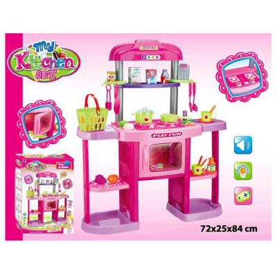 """Детская кухня """"Kitchen set"""" для девочек со звуком, светиться духовка (661-75)"""