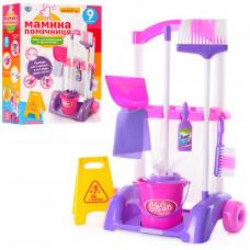 Детский набор для уборки Limo Toy 667 K: тележка на колесах, ведро, щетка, моющие средства