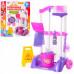 Детский набор для уборки Limo Toy: тележка на колесах, ведро, щетка, моющие средства (667 К (х))