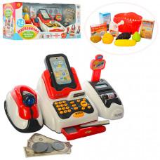 Детский игрушечный кассовый аппарат (сканер, звук, свет, 668-48)
