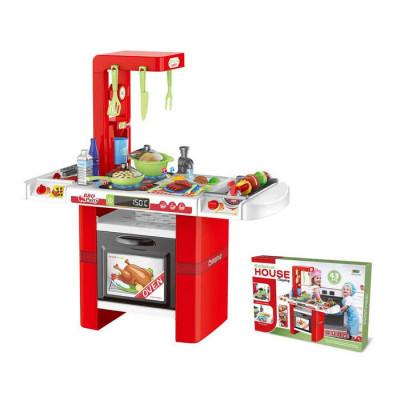 Детская игровая кухня с водой, 43 предмета Красная (8759)