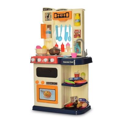 Детская кухня 65 деталей, подсветка, звук, мелодии, идет пар, на батарейках, высота 78 см (922-118 (Р))