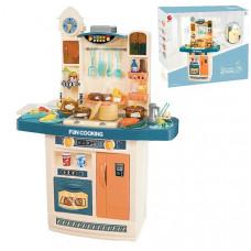 Детская большая интерактивная кухня Fun Cooking 998A - ВОДА, ПАР, ЗВУК, СВЕТ - 56 предметов - 100 см