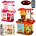 Детская большая кухня с пультом и водой, плита, духовка (WD-P16-R16)