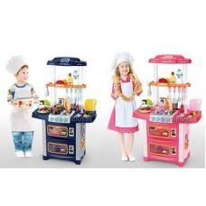 Детская музыкальная кухня со световыми эффектами WD-P38 - с крана течет вода