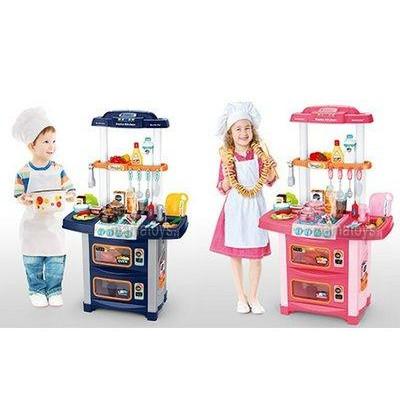 Детская музыкальная кухня со световыми эффектами - с крана течет вода (WD-P38)
