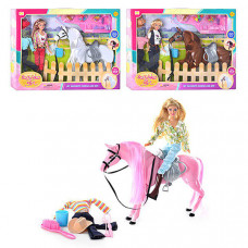 """Игровой набор Кукла DEFA с лошадью """"Ранчо"""""""