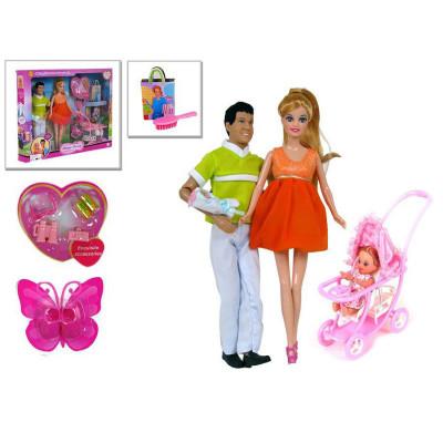 Кукла DEFA беременная, KEN, коляска с ребёнком, аксессуары (8088)